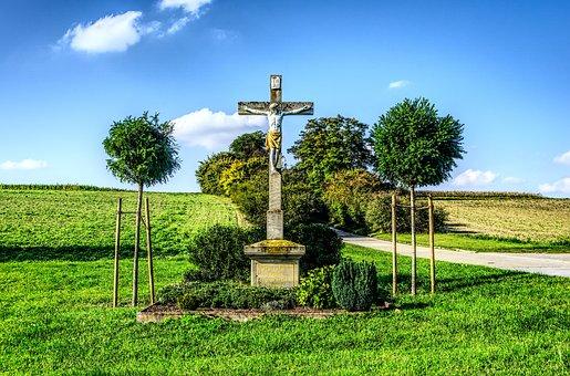 Cross, Wayside Cross, Corridor Cross, Religion, Faith