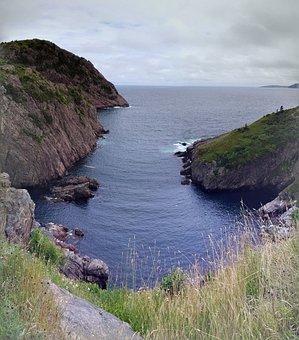 Newfoundland, Signal Hill, Ocean, Cove, Panoramic