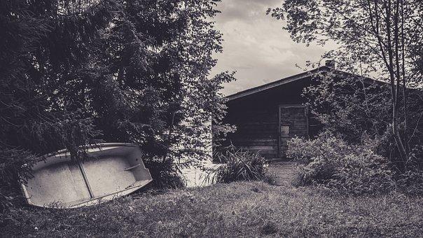 Haus Am See, Destination, Pond, Romantic, Building