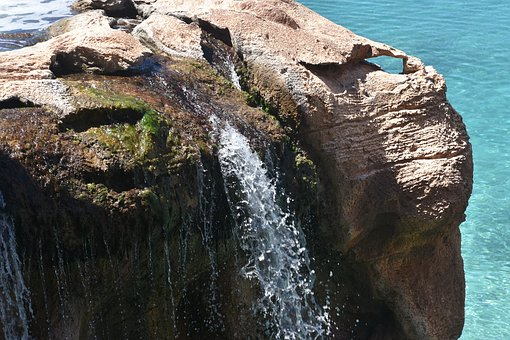 Waterfall, Water, Environment, Rock, Park, Flowing