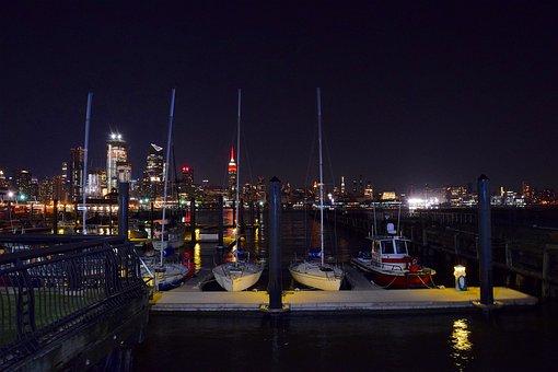New York City, Waterfront, Hudson River, Sail Boats