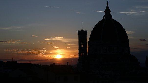 Sunset, Florence, Dom, Italy, Tuscany, Architecture