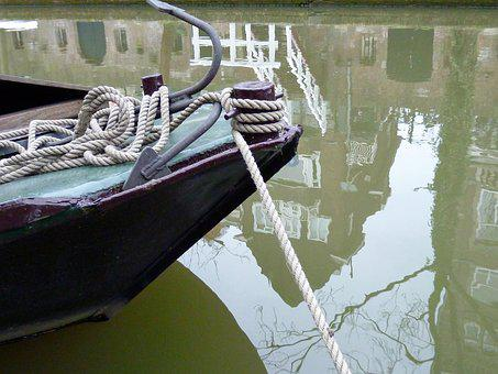 Boot, Water Reflection, Water, Mirroring, Shipping