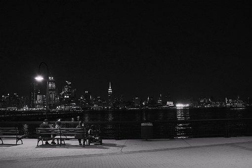 New York City, Skyline, Night, New York City Skyline