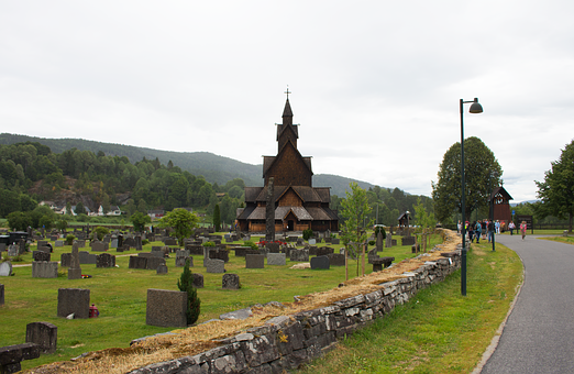 Church, Stave, Norwegian, Norway, Old, Religion