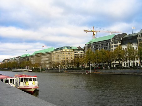 Building, Architecture, River, Boat, City, Perspective