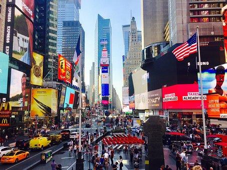 Times Square, New York, New York City, Manhattan, Nyc