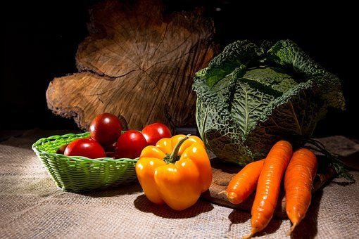 Vegetables, Cabbage, Still Life, Carrot, Savoy Cabbage
