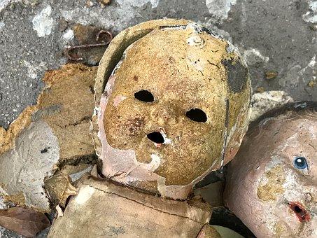 Vintage, Doll, Hurricane Harvey, Ruin, Damage, Flood