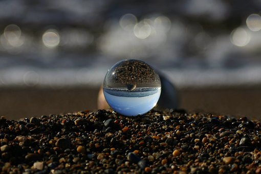 Natural, Landscape, Sea, Beach, Wave, Shell From, Glass