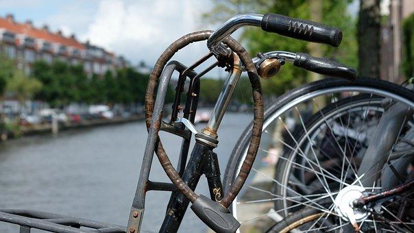 Amsterdam, Channel, Bike, Bike Lock, Channel Gracht