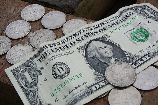 Money, Dollar, Coins, Cash, Currency