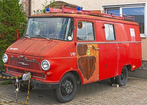 Oldtimer, Firefighter Oldtimer, Opel, Fire Truck, Fire