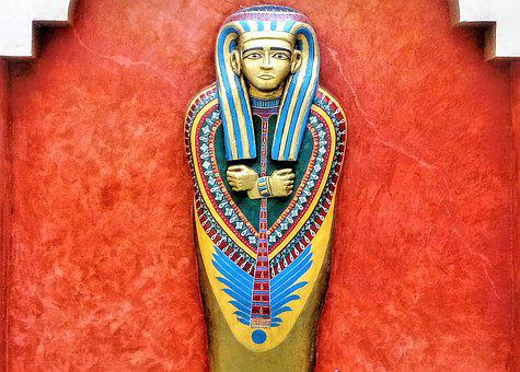 Tutanthamon, The Sarcophagus, Gold Plated, Props