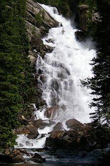 Hidden Falls, Grand Teton, National Park, Water, Nature