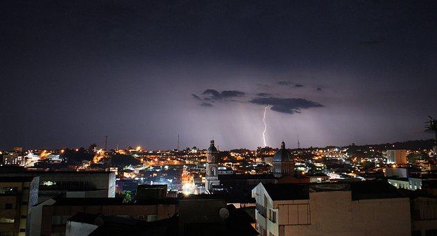 Landscape, Storm, Rays, Rain, Armenia
