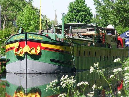 Peniche, Boat, Channel, Water, Nature, Colors