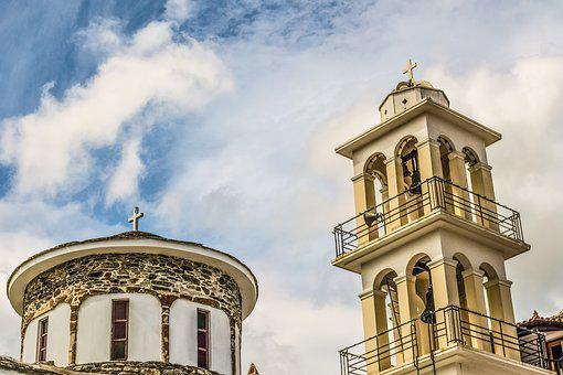Church, Dome, Belfry, Architecture, Sky, Clouds