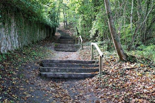 Hike, Wall, Stairs, Chapel, Hammelburg, Monastery