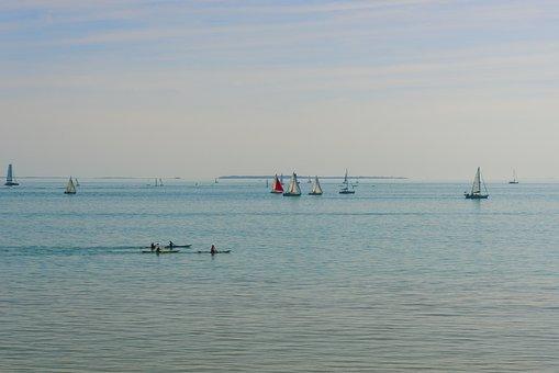 Sailboats, Boats, The Rochelle, Atlantic Ocean