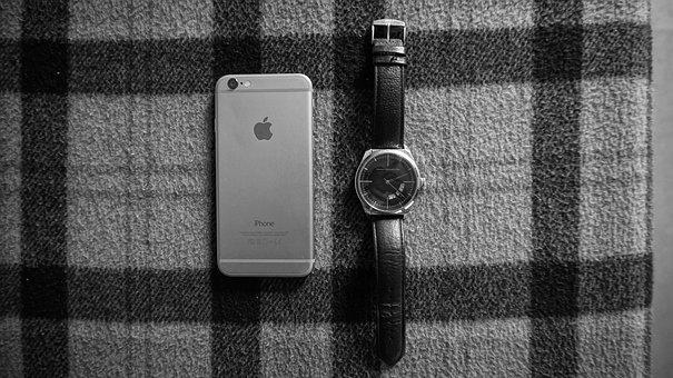 Iphone, Watch, Abstract, Design, Time