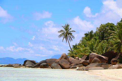 Beach, Seychelles, Tropical, Ocean, Sea, Sand, Travel