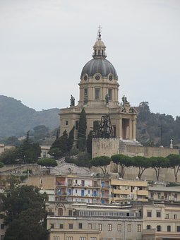 Sicily, Cathedral, Italy, Architr, Architecture, Church