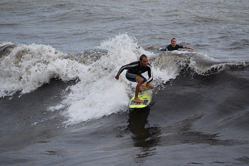 Surfing, Surfer, Beach, Sea, Waves, Watersports