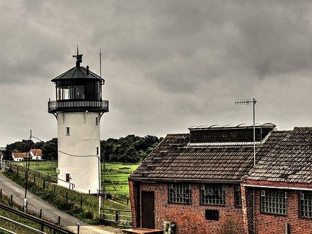 Big Bertha, Lighthouse, Tower, Cuxhaven, Elbe