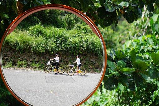 Reflection, Bicycle, Bike, Sport, Wheel, Summer, Cycle