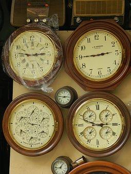 Vintage, Clocks, Time, Classic, Wood, Antique