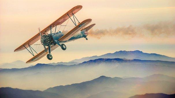 Aircraft, Double Decker, Oldtimer, Propeller Plane, Fly