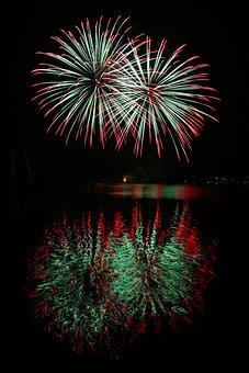 Fireworks, Firework, Fire, Light, Rocket, Burn, Flame