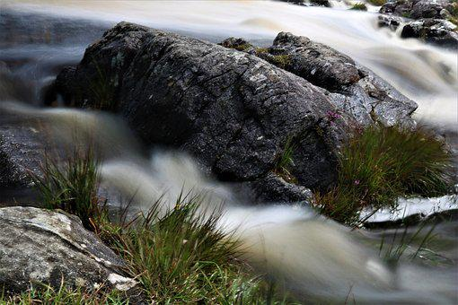 Waterfall, Bach, Ireland, Stones, Flow, Nature, Clear