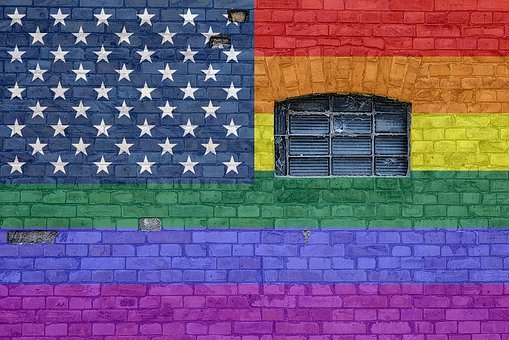 Wall, Brick, Grafitti, Window, Rainbow, Gay Pride, Gay