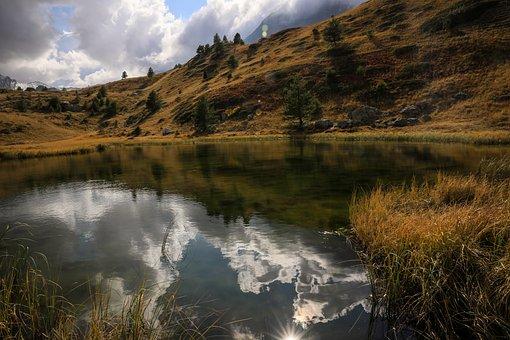 Tarn, Mountain Lake, Reflection, Landscape, Alps, Lake