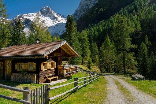 Mountains, Landscape, Alpine, Away, Austria, Rest, Alm