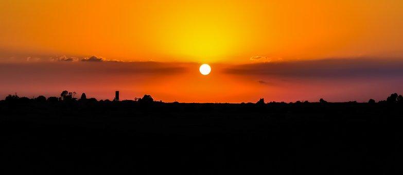 Sunset, Colors, Nature, Landscape, Sky, Sun, Evening