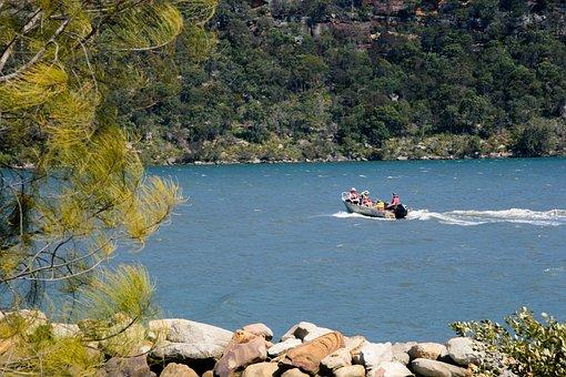 Boat, Rockface, River, Nature, Travel, Tourism