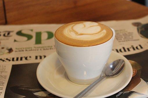 Food, Beverage, Coffee, Newspaper, Drink, News, Read