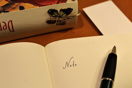 Note, Book, Old, Bookmark, Coolie, Leave, Pen, Close