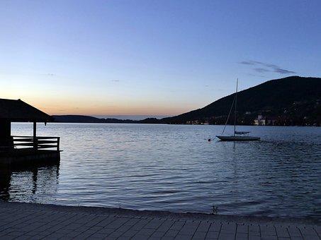 Tegernsee, Rottach-egern, Lake, Resort, Church, Tourism