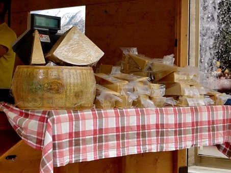 Cheese, Sales Stand, Table, Milk Product