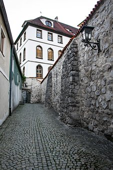Alley, Stone, The Walls Of The, Castle, Architecture
