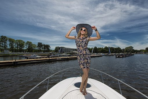Woman, Girl, Man, Body, Sexy, Figure, Boat, Water