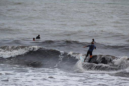 Onda, Surfing, Sea, Watersports, Waves, Holiday, Sport