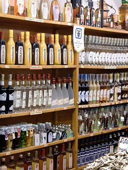 Shelf, Bottles, Wine, Glass Bottle, Exhibition