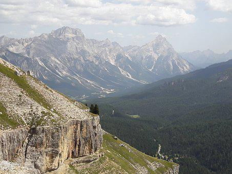 Dolomites, Mountains, Slope, Alpe, Alpine Panorama