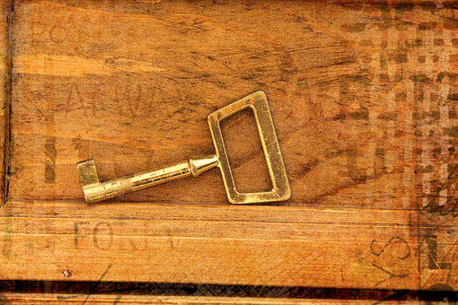 Key, Wood, Antique, Deco, Close
