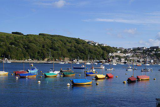 Sea, Sun, Water, Boats, Colorful, Booked, Cornwall